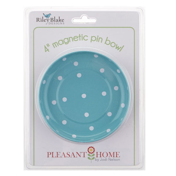 "polka dot 4"" magnetic bowl - aqua"