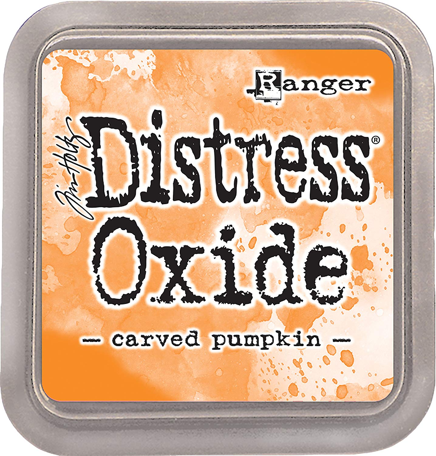 distress oxide -carved pumpkin