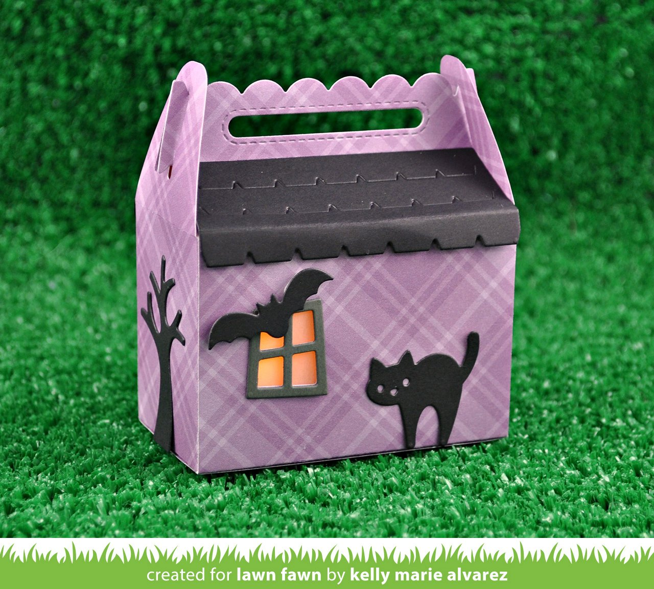 scalloped treat box haunted house add-on