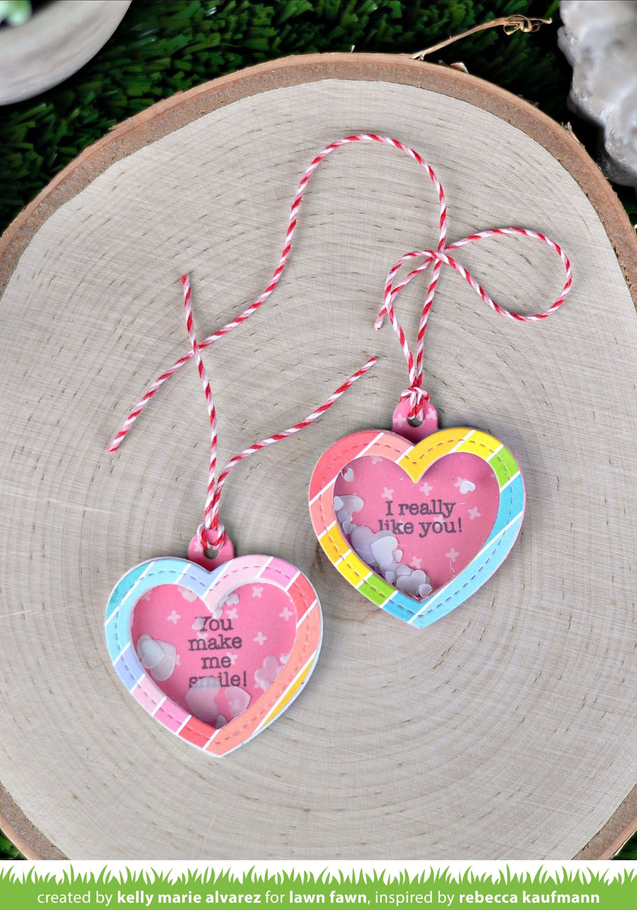 heart shaker gift tag