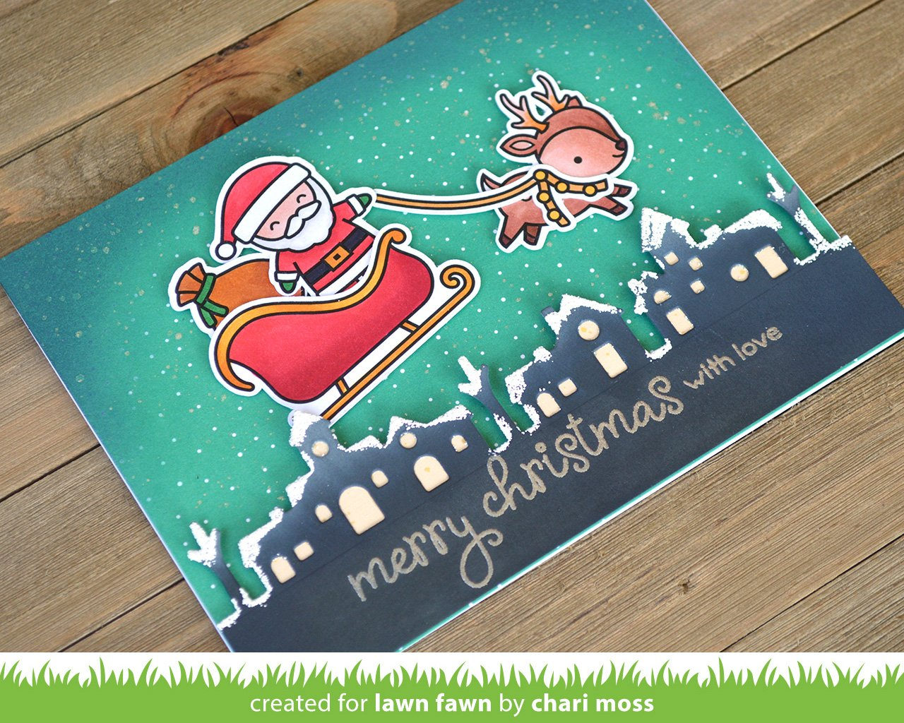 Lawn Fawn Ho-Ho-Holidays 4x6 Clear Stamp Set LF2029