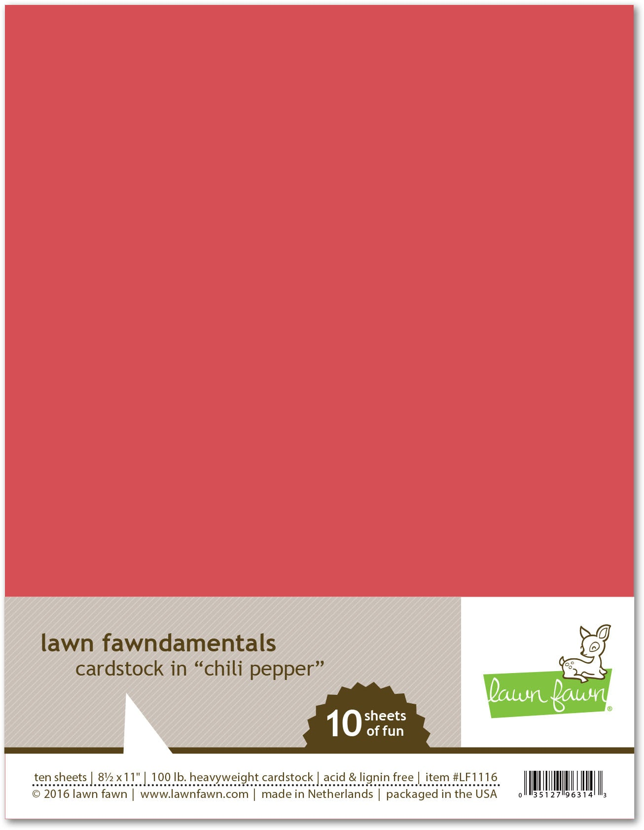 chili pepper cardstock
