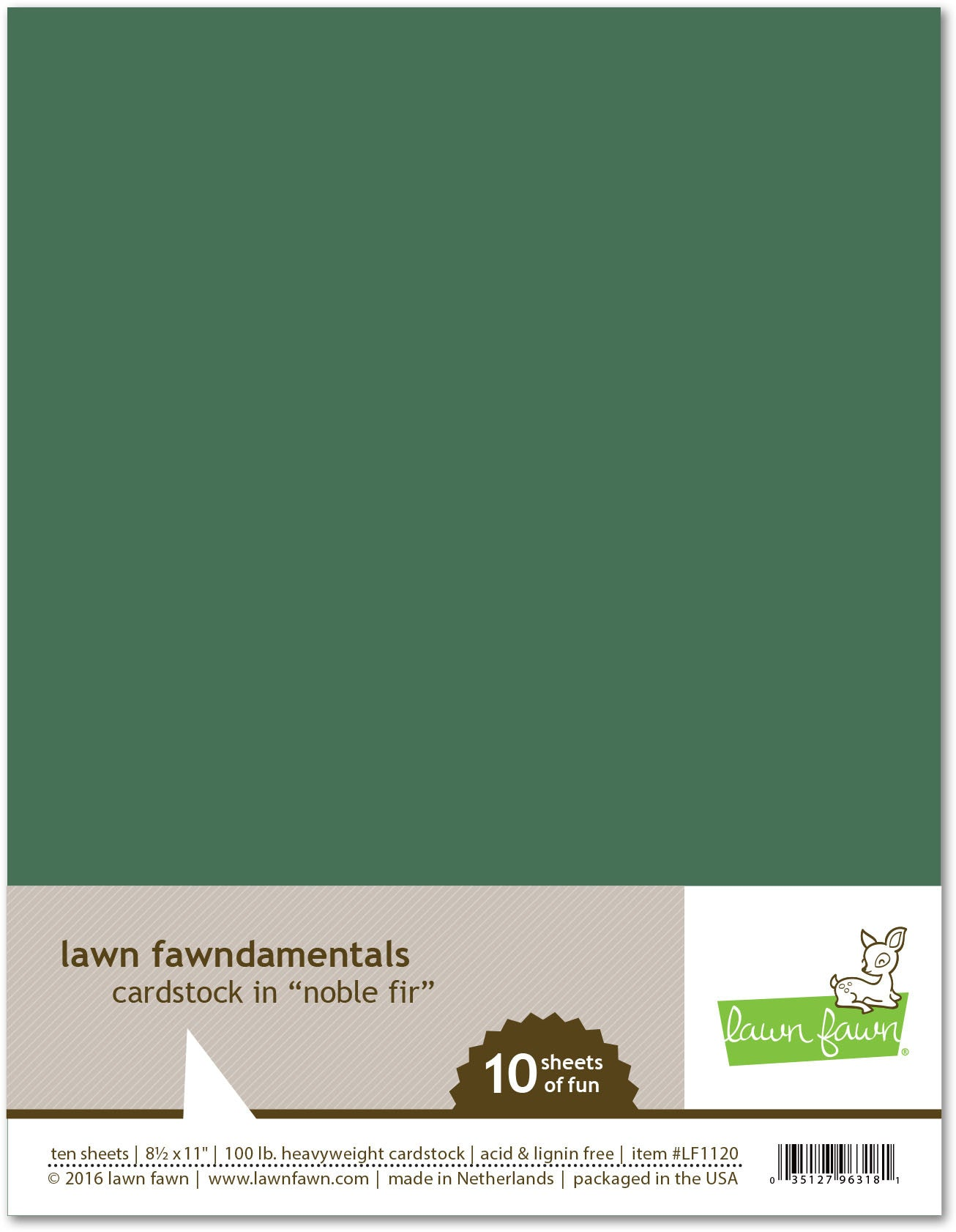 noble fir cardstock