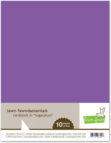 sugarplum cardstock