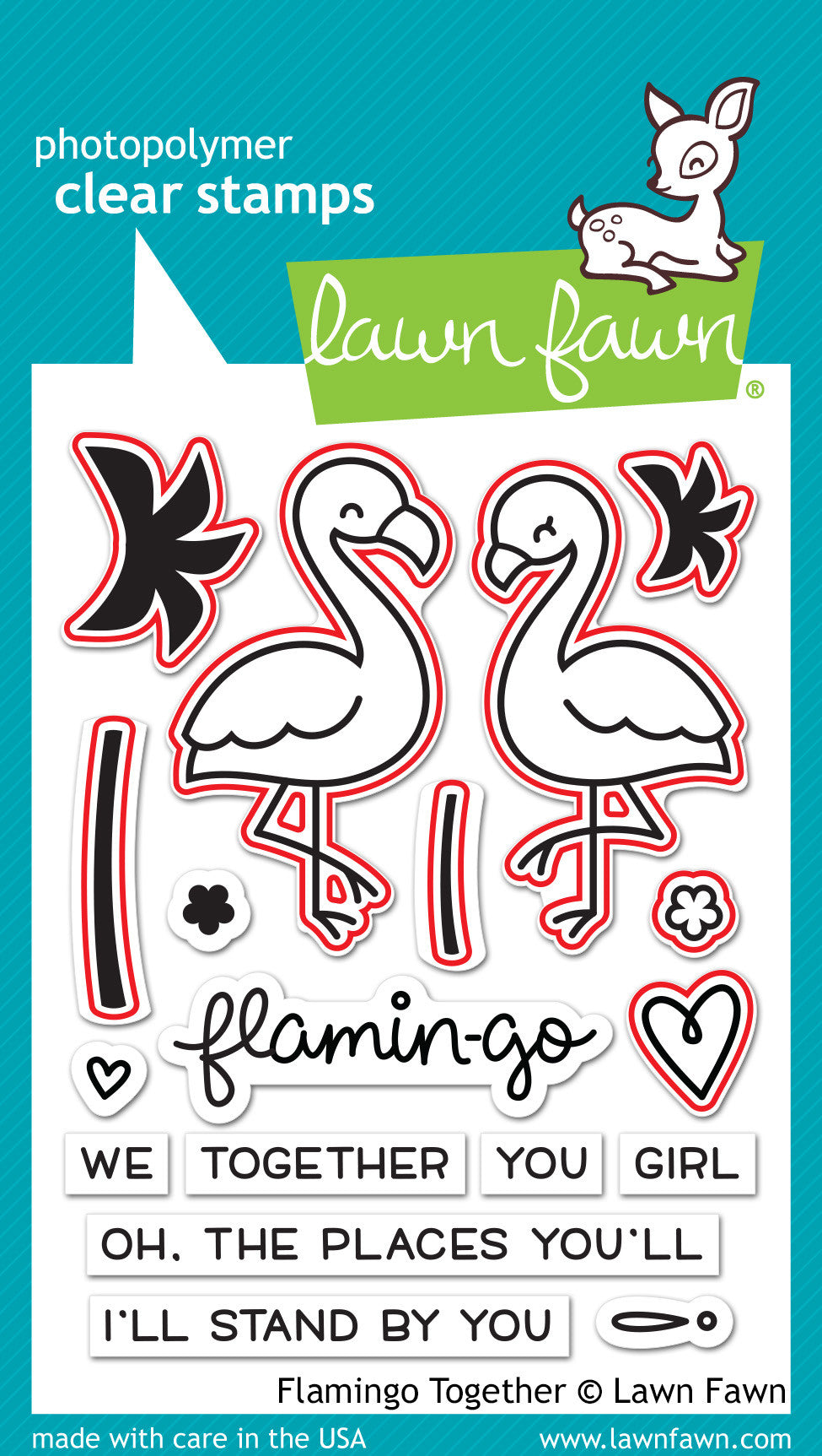 flamingo together - lawn cuts