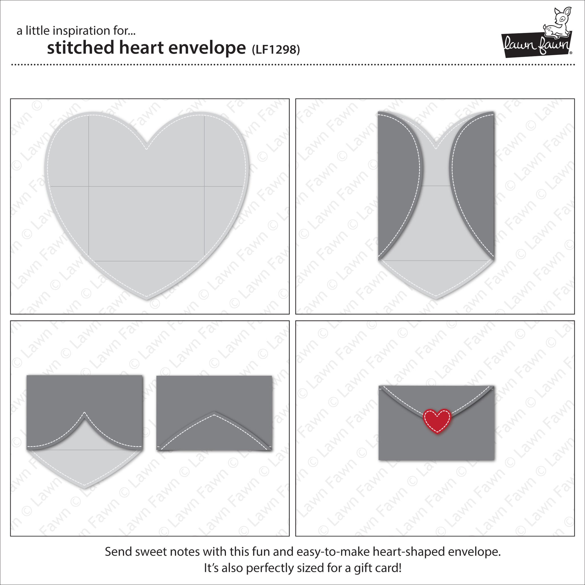 stitched heart envelope