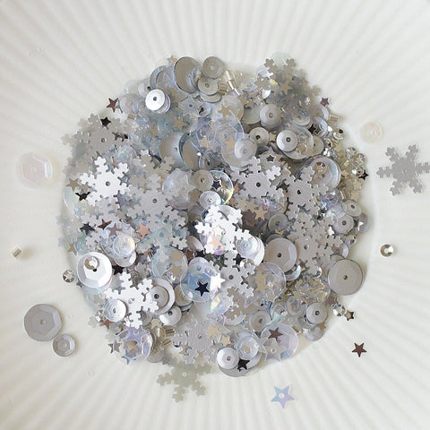 silver snowflake sparkly shaker selection