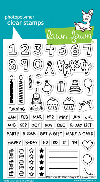 plan on it: birthdays