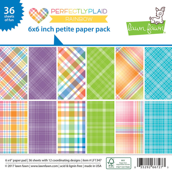 perfectly plaid rainbow petite paper pack