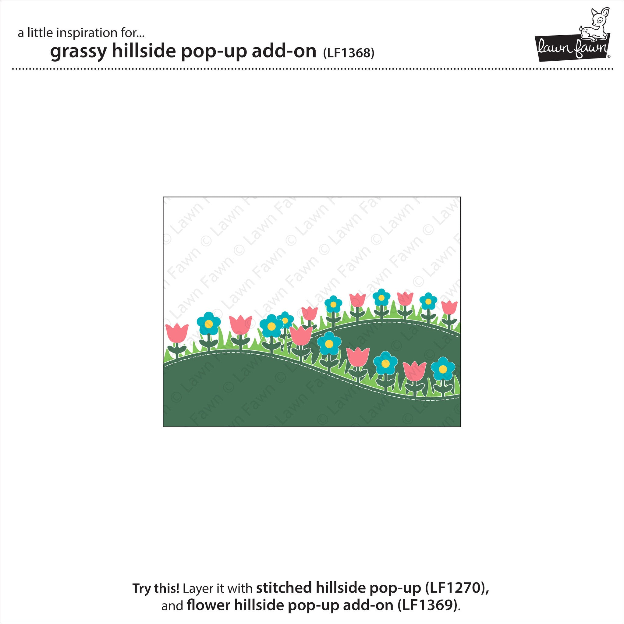 grassy hillside pop-up add-on