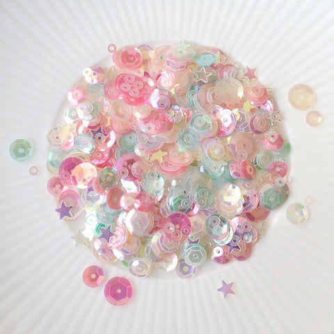 pastel paradise sparkly shaker selection