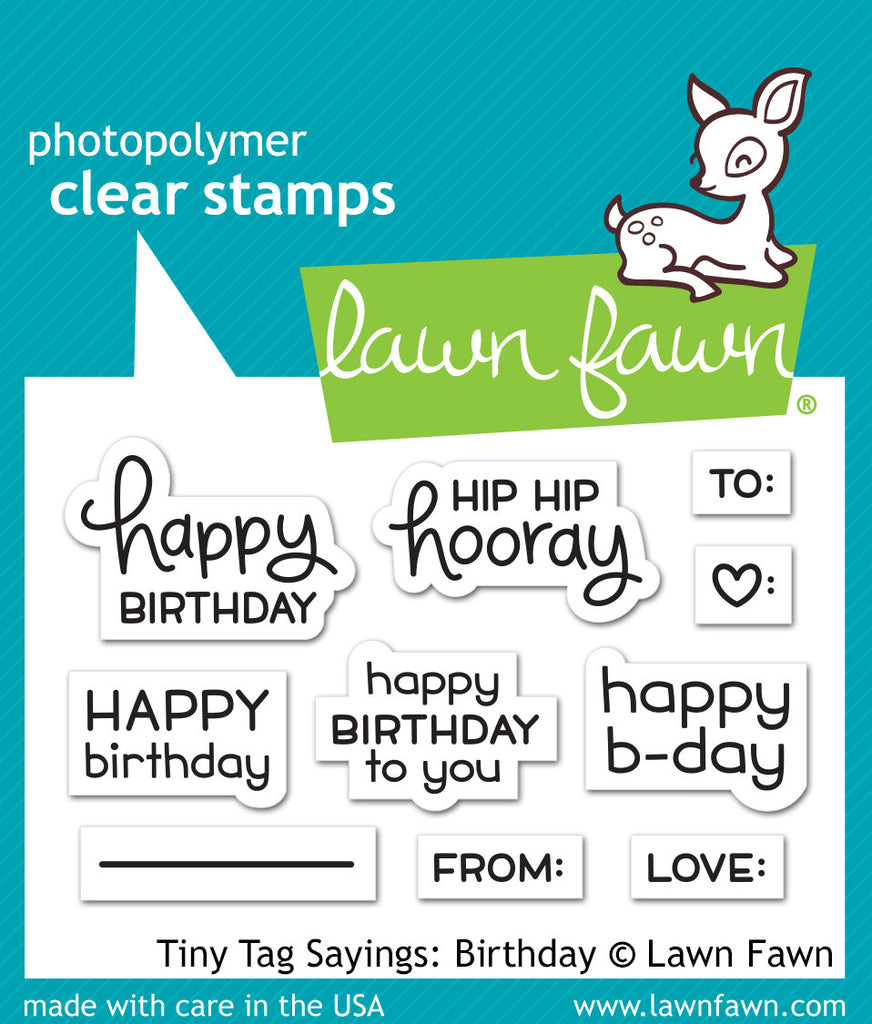 Tiny Tag Sayings Birthday Lawn Fawn