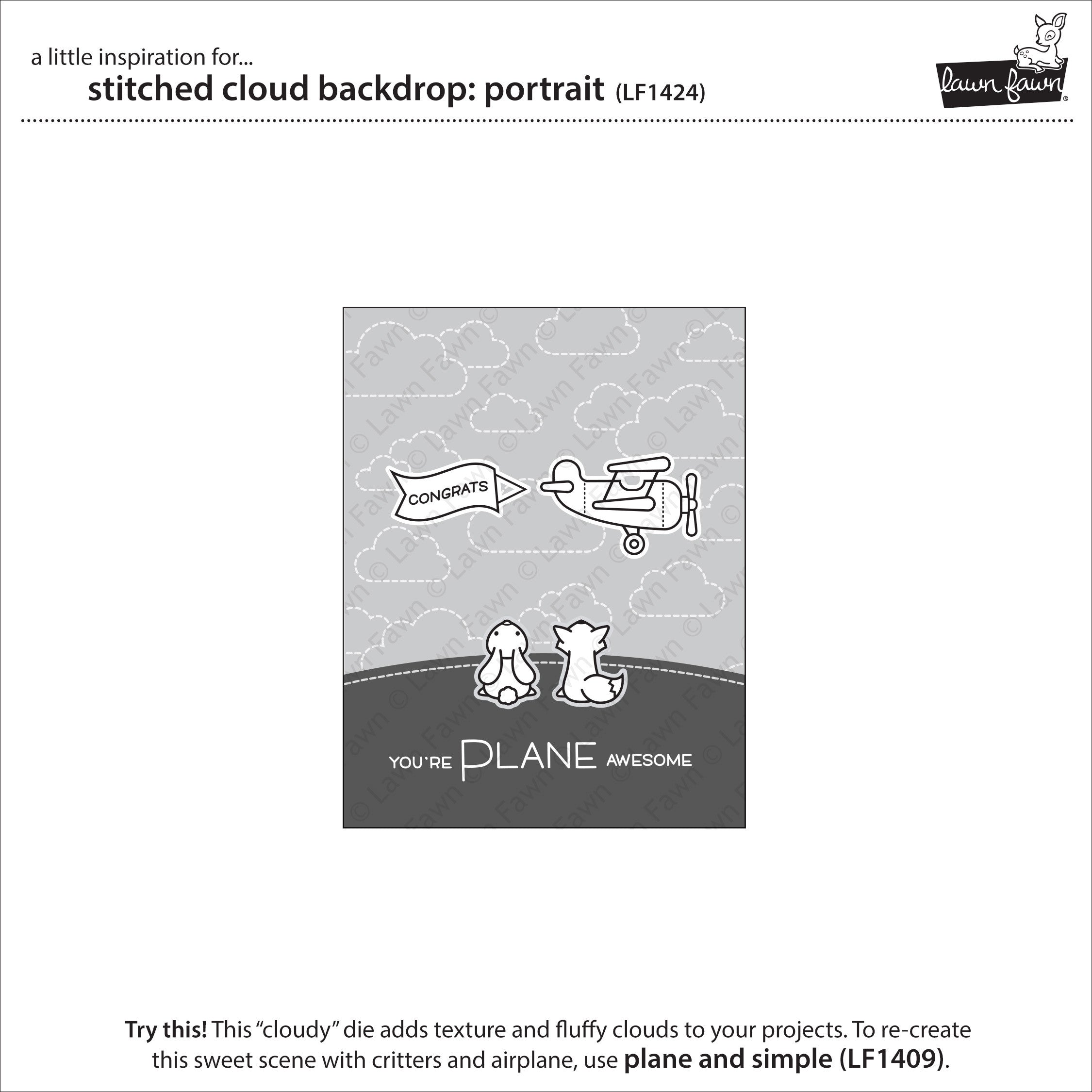 stitched cloud backdrop: portrait