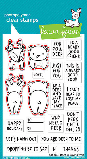 for you, deer - lawn cuts