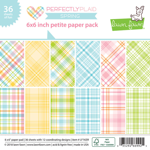 perfectly plaid spring petite paper pack