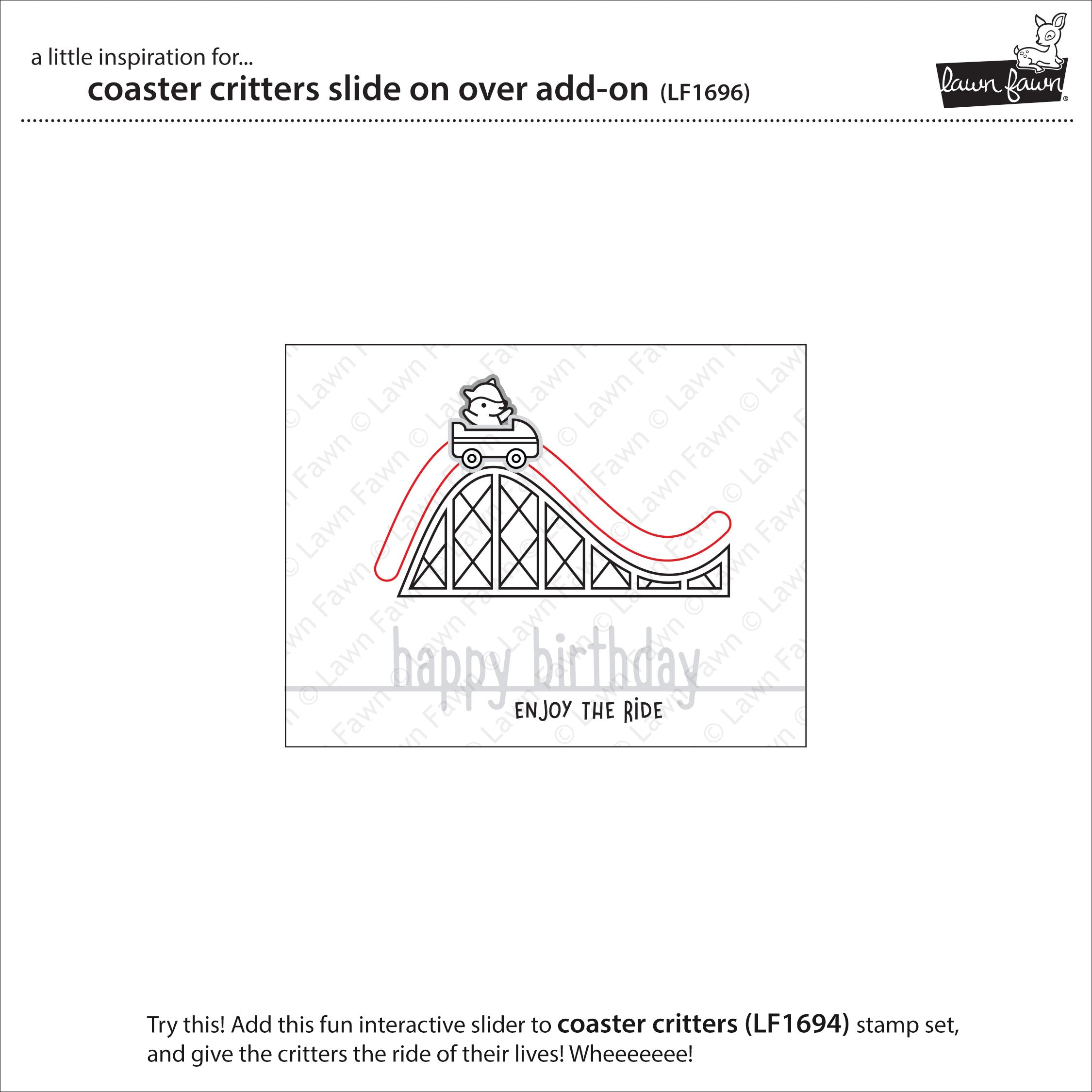 coaster critters slide on over add-on