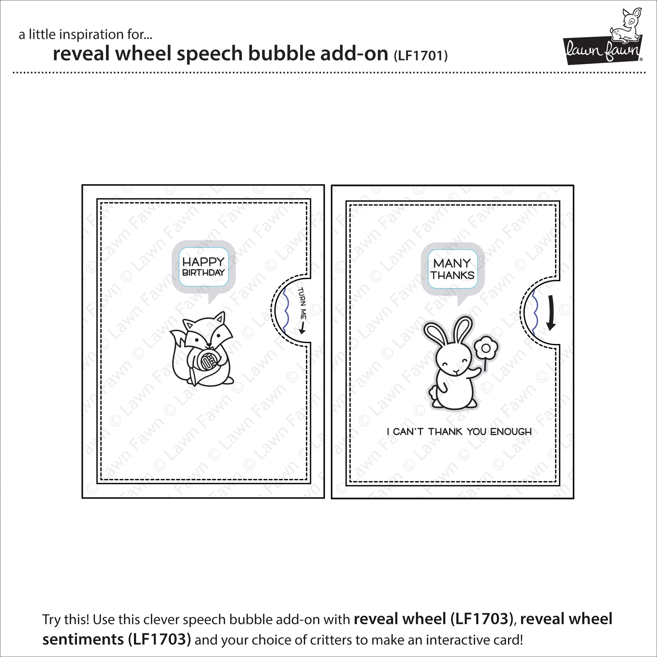 reveal wheel speech bubble add-on