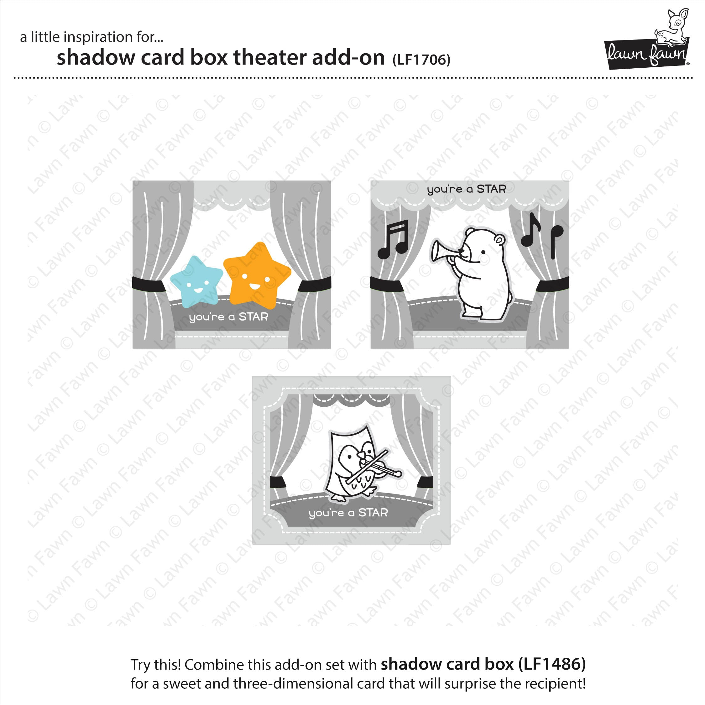 shadow box card theater add-on