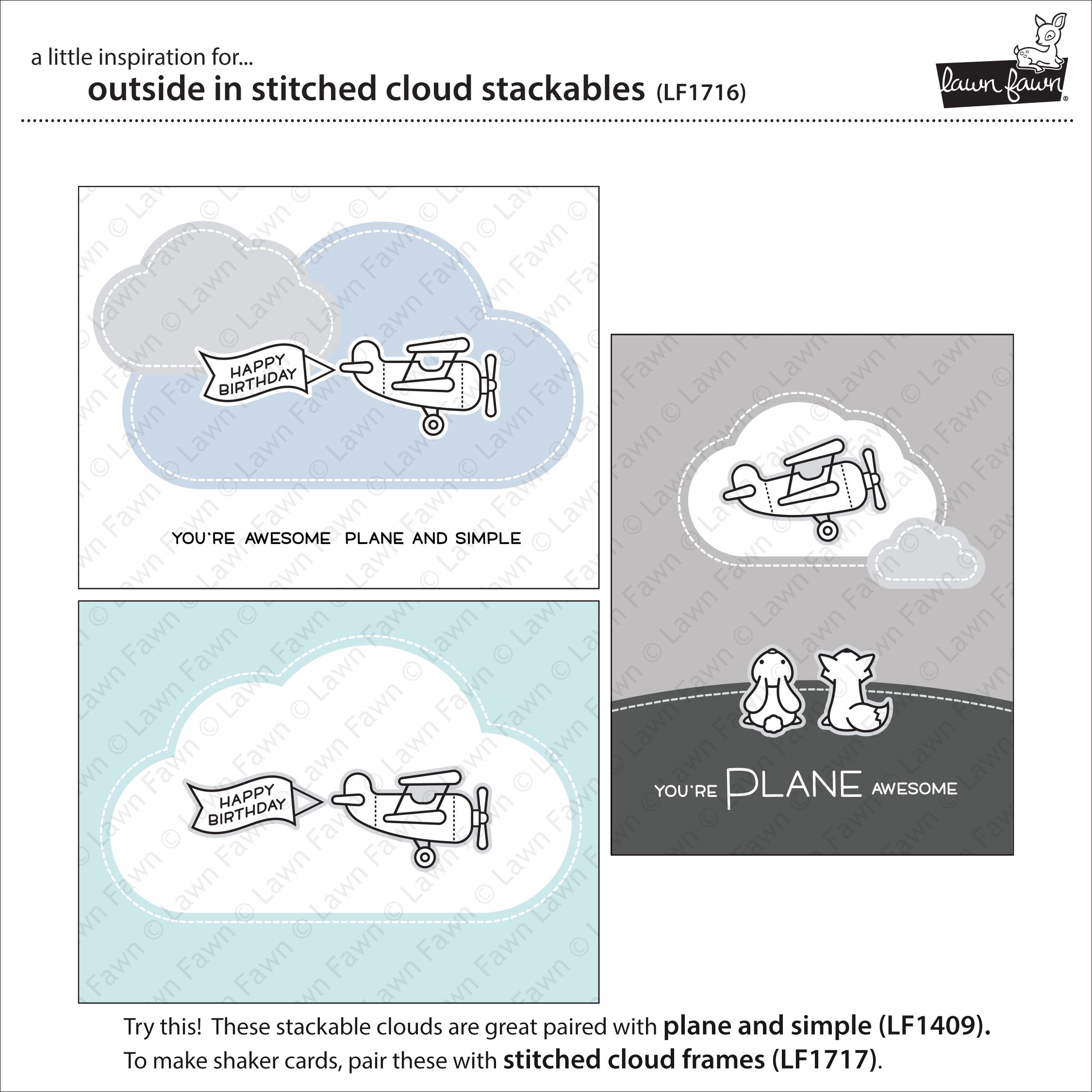 outside in stitched cloud stackables