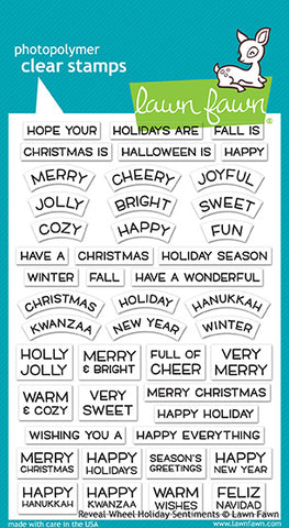 reveal wheel holiday sentiments