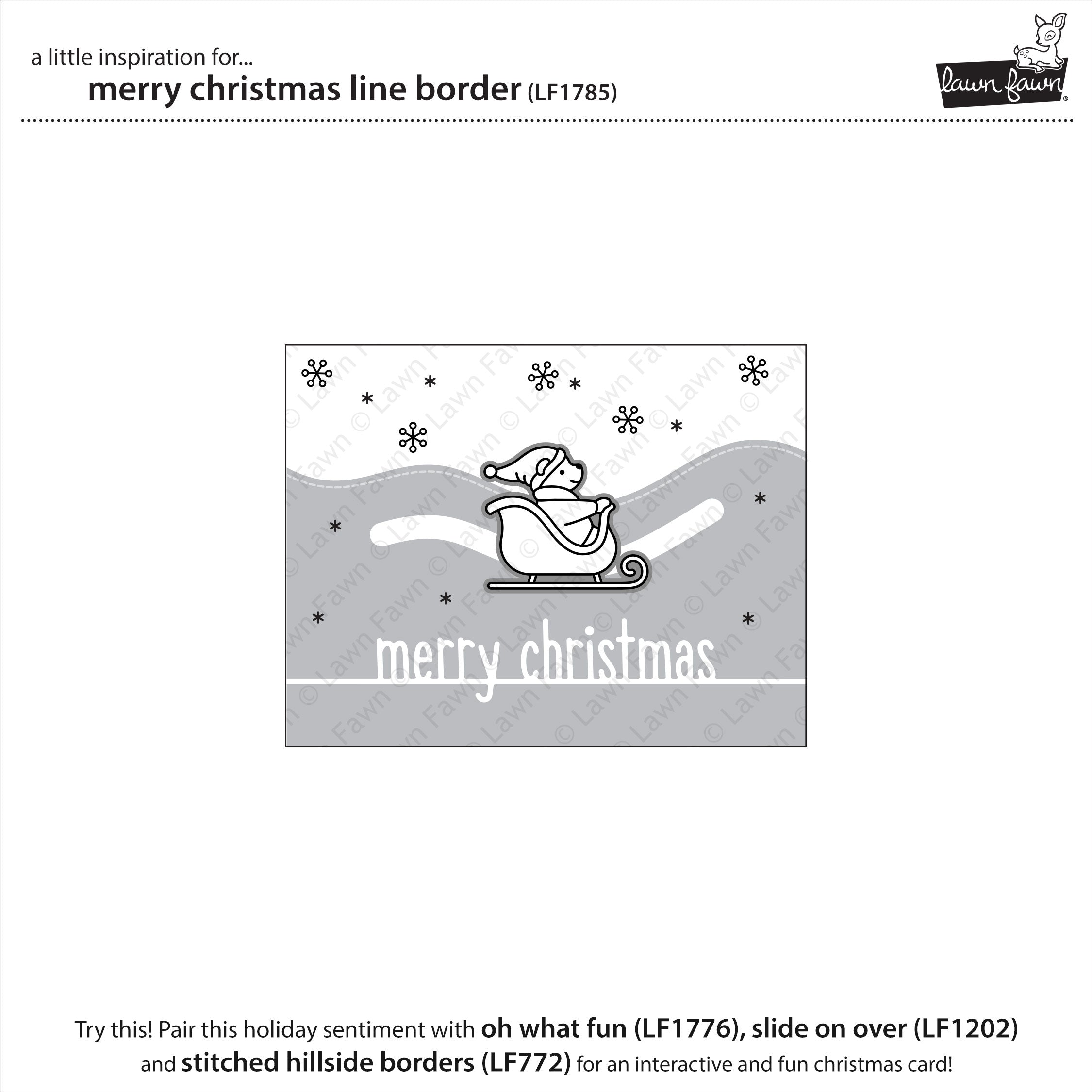 merry christmas line border