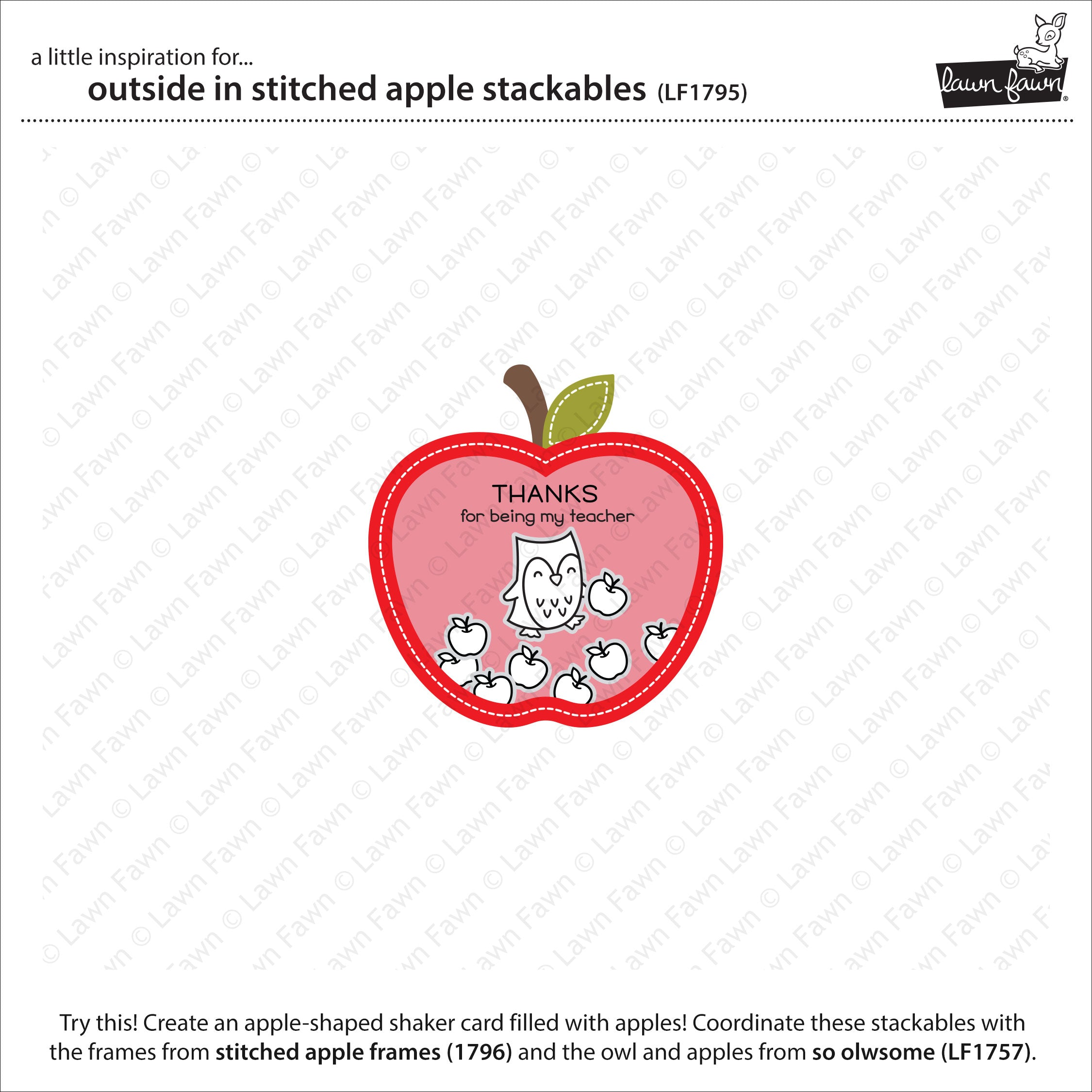 outside in stitched apple stackables