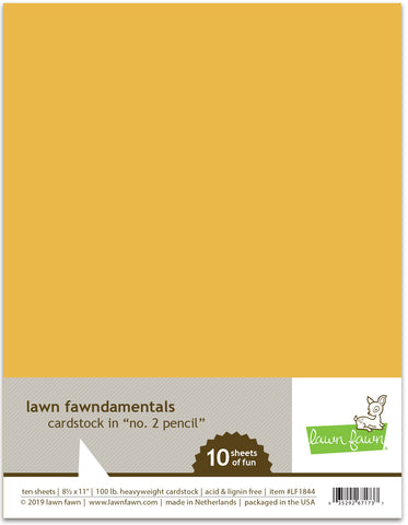 no. 2 pencil cardstock