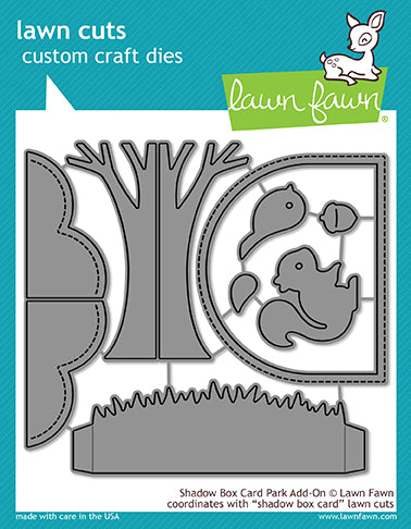 LF1907 Lawn Fawn Shadow Box Card Park Add-On Die