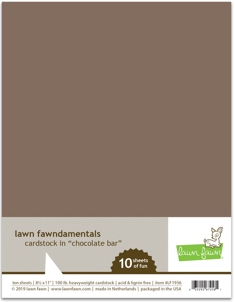 chocolate bar cardstock