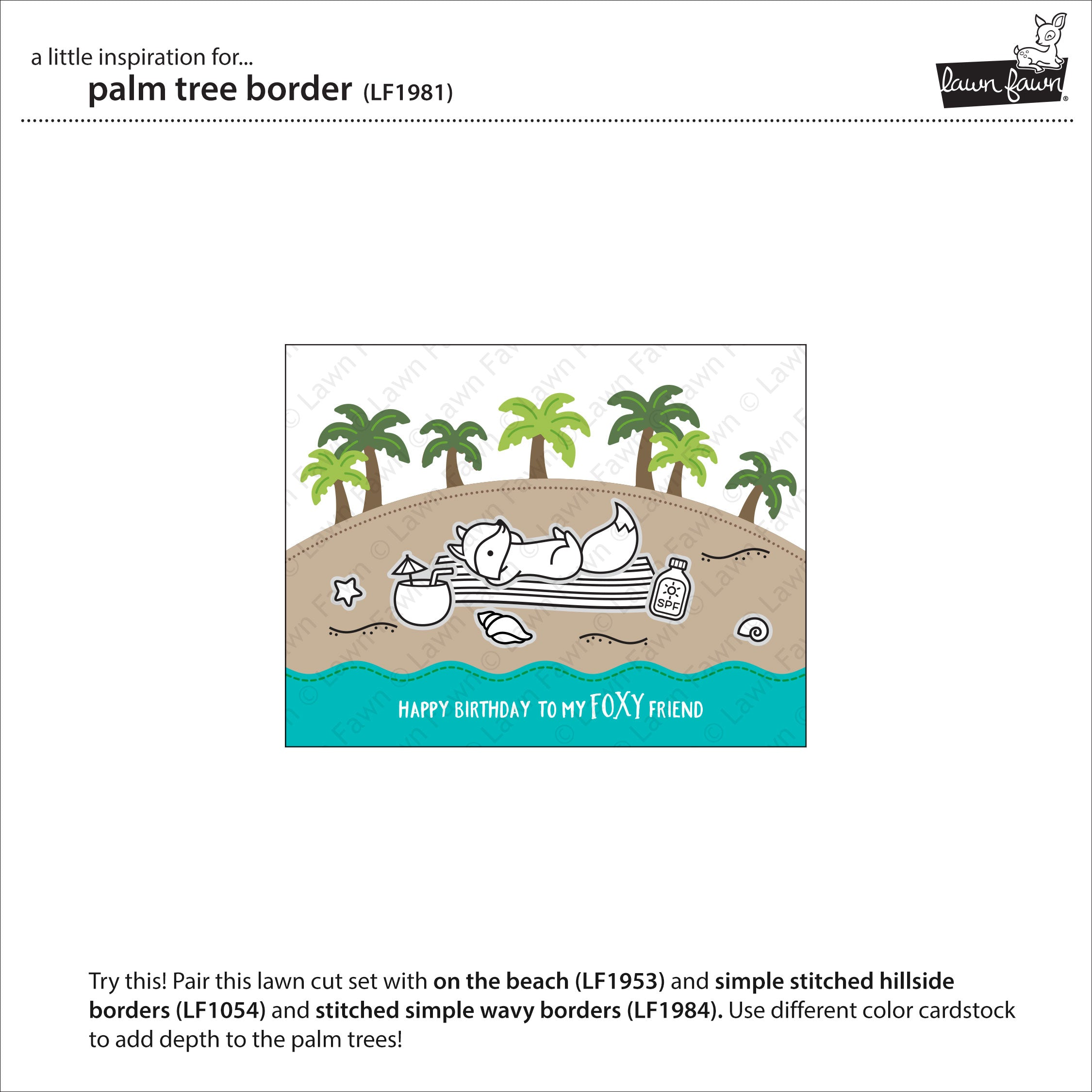palm tree border