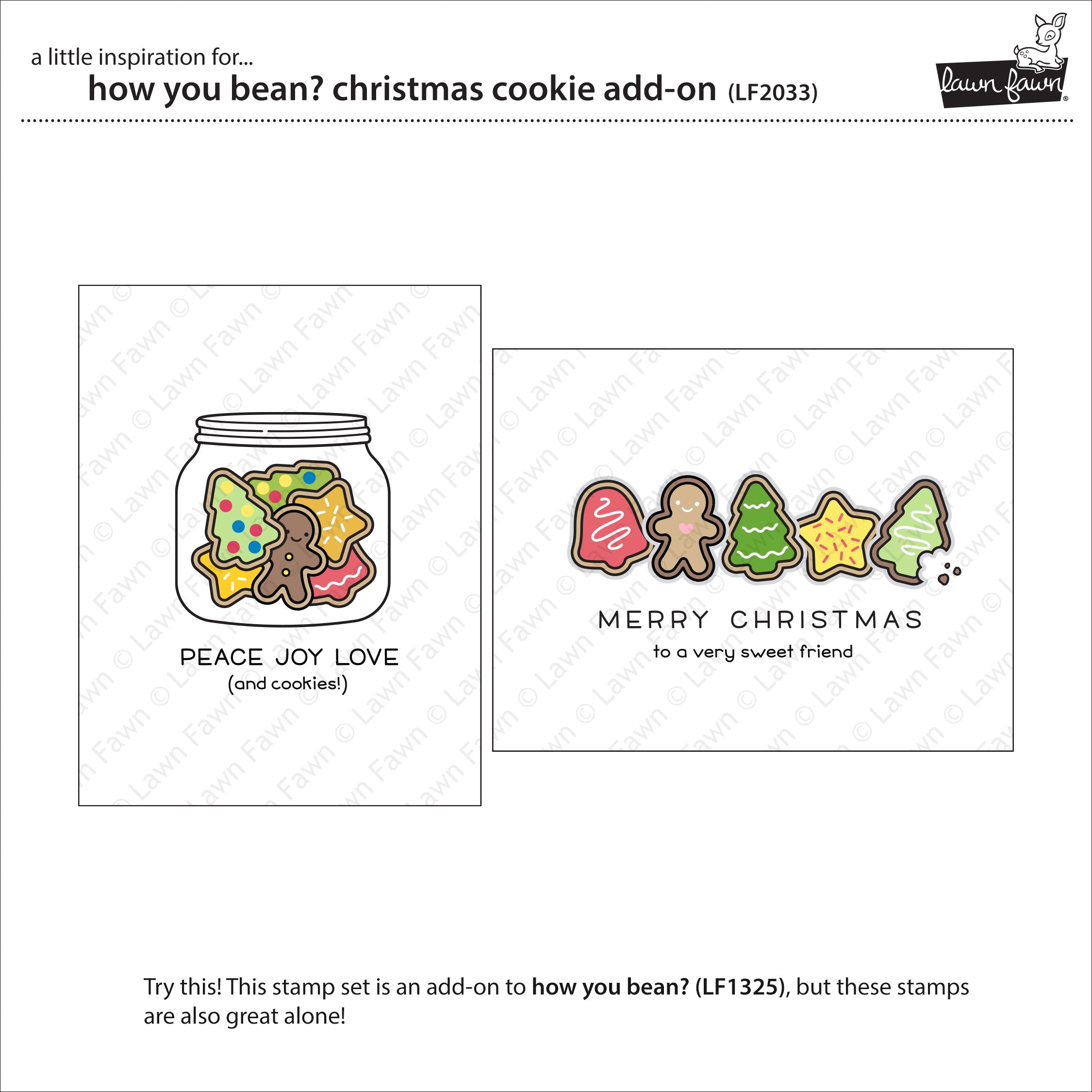how you bean? christmas cookie add-on