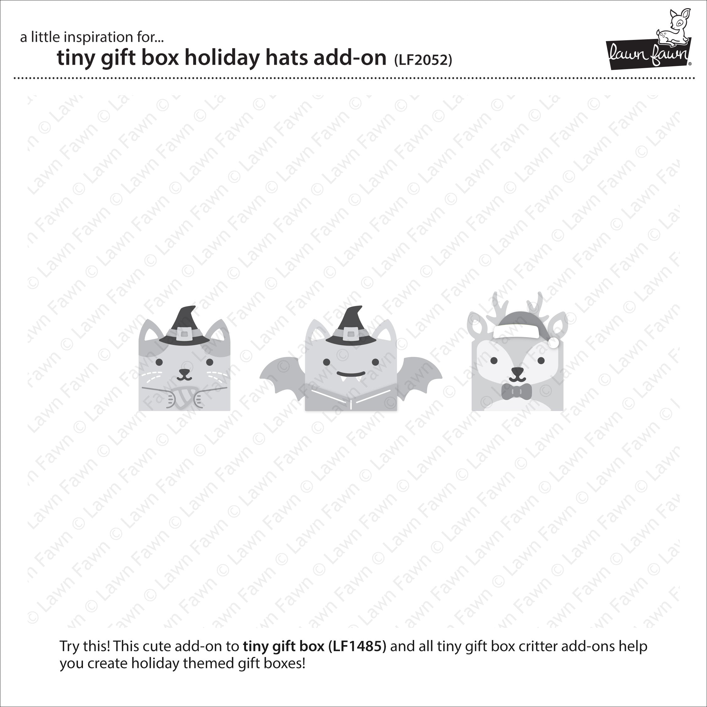 tiny gift box holiday hats add-on