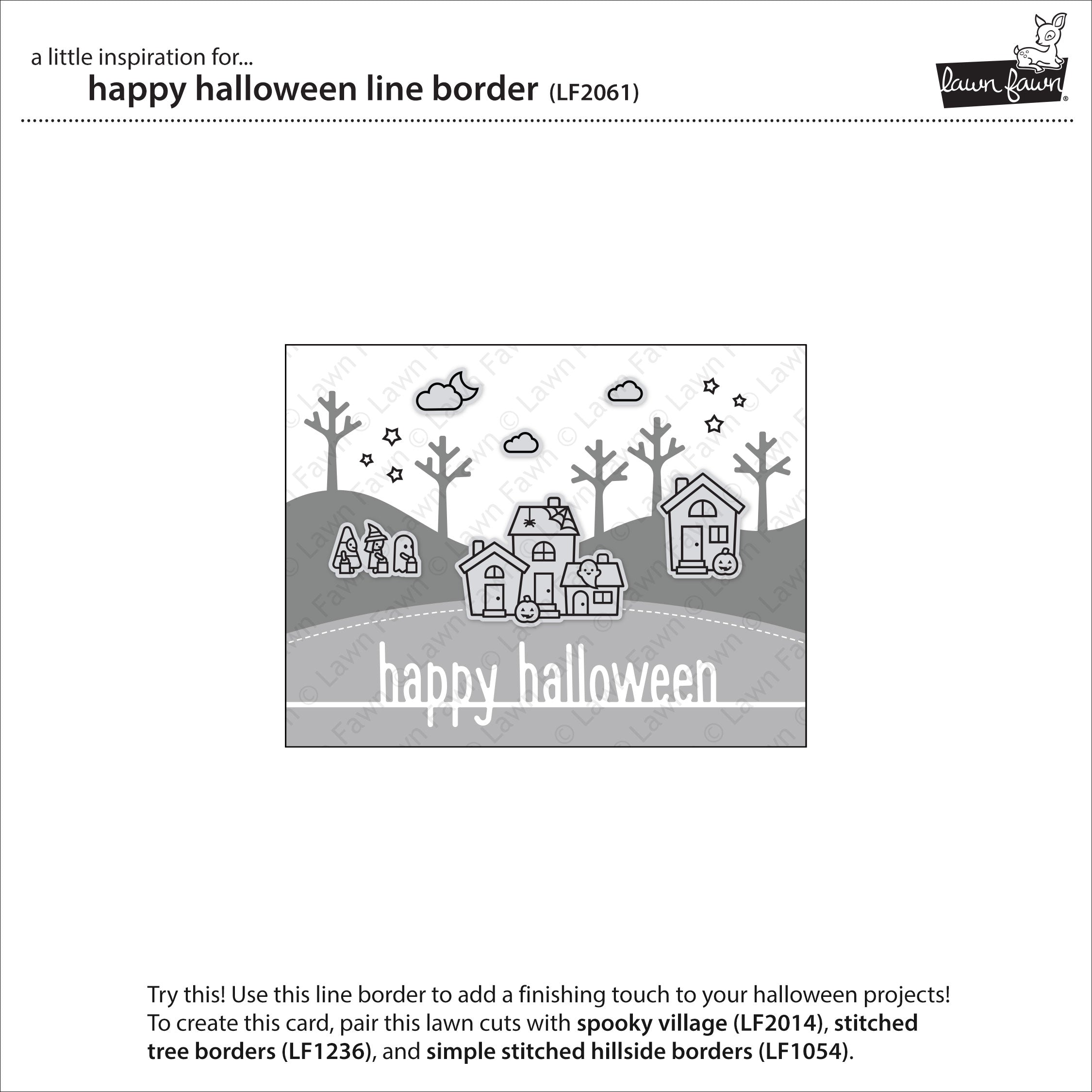 happy halloween line border