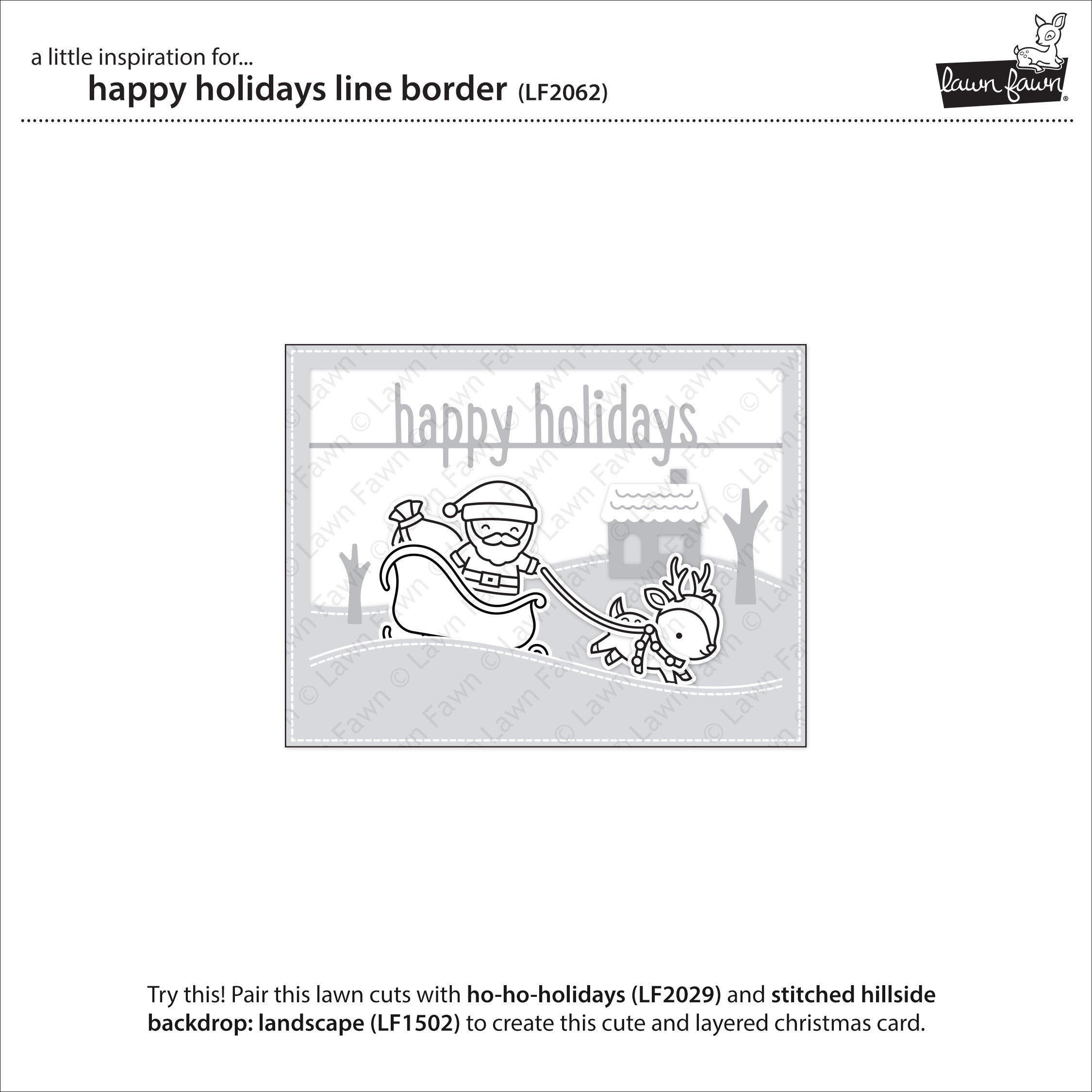happy holidays line border
