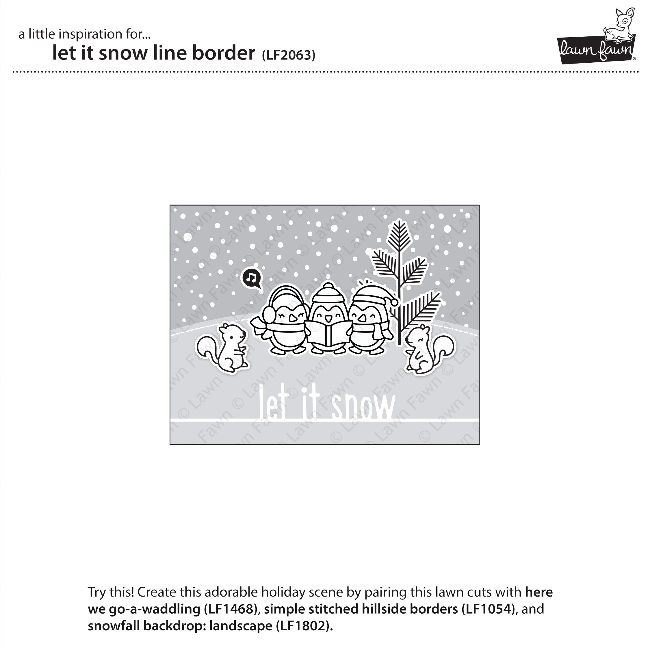 let it snow line border