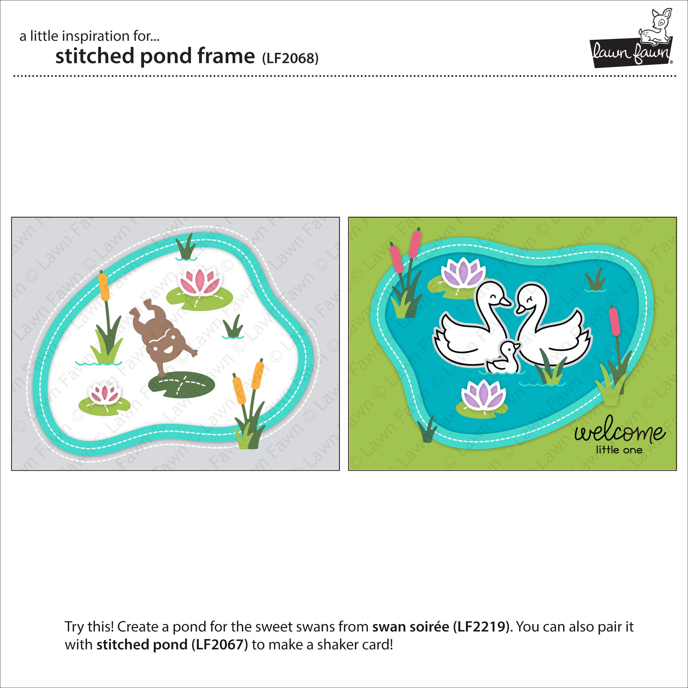 stitched pond frame