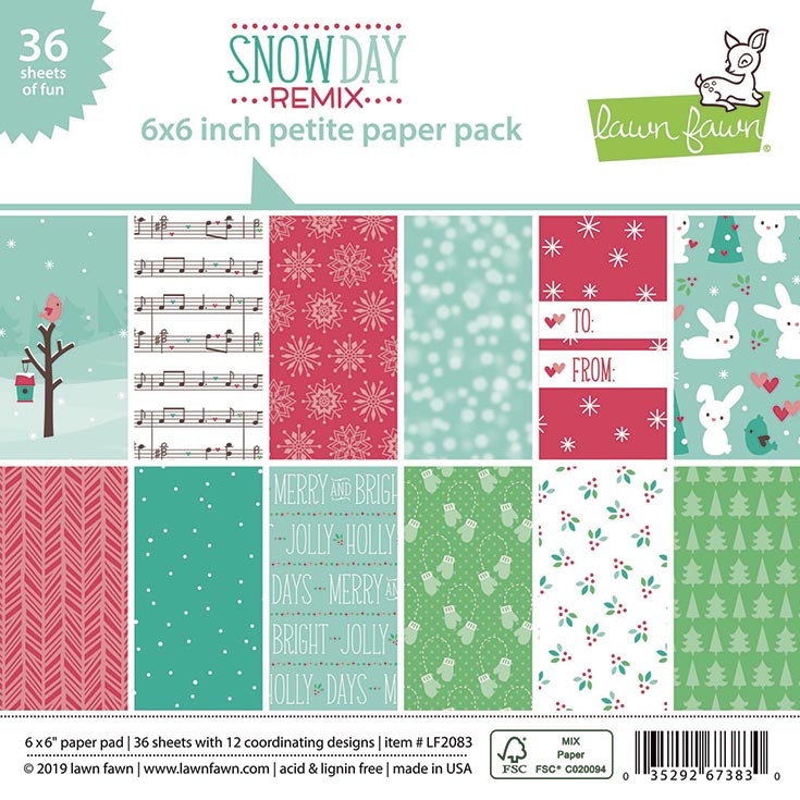 snow day remix petite paper pack