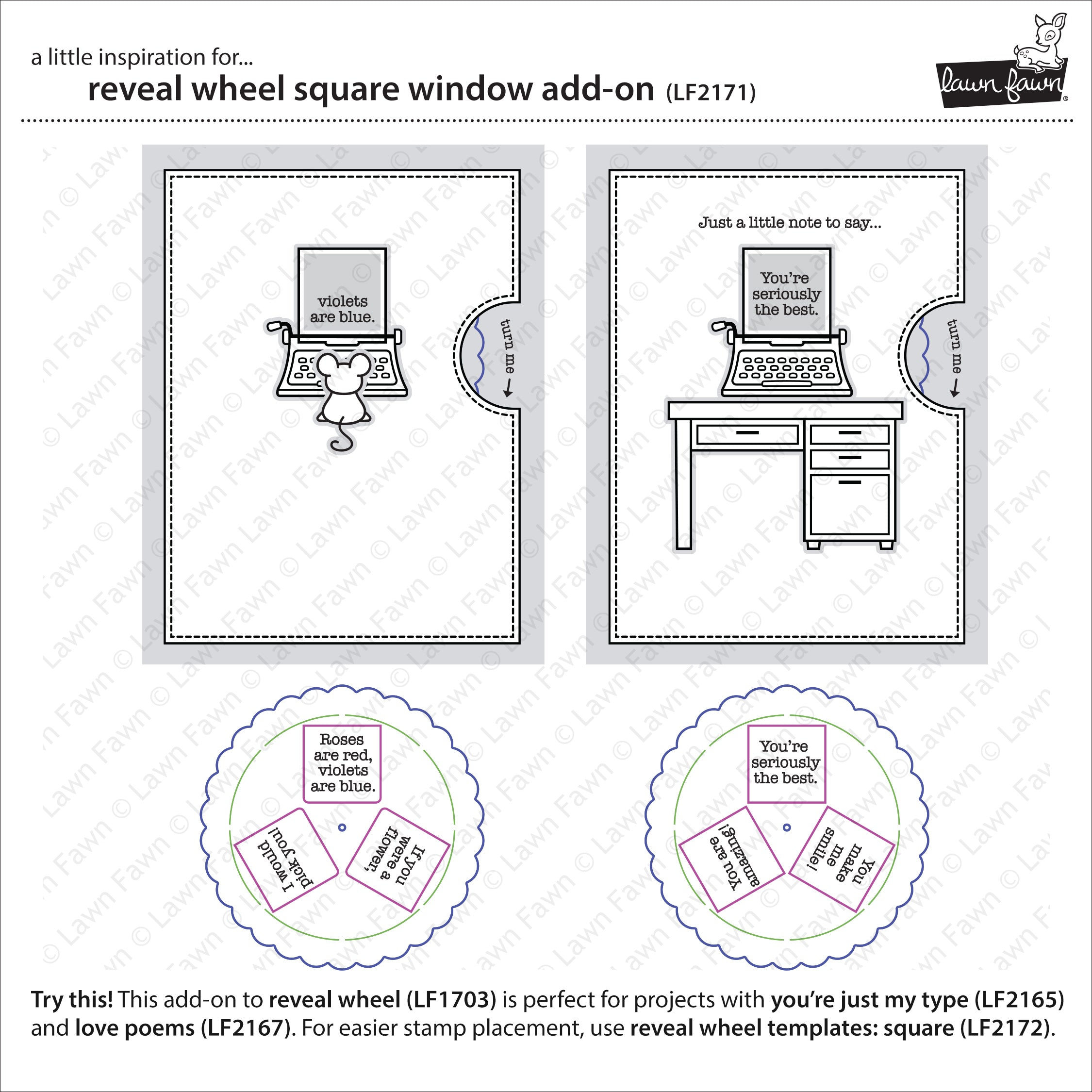 reveal wheel square window add-on