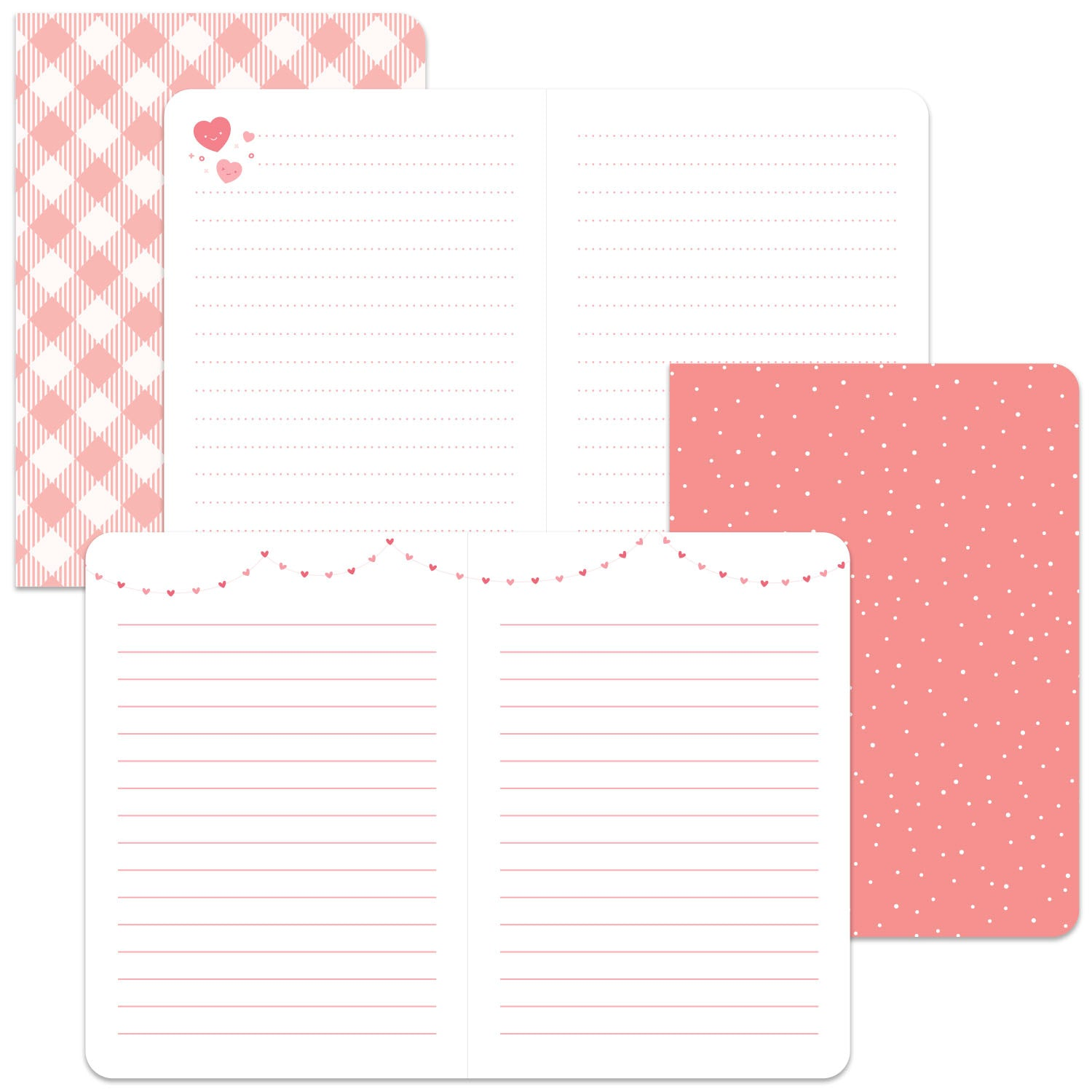 perfectly pink - mini notebooks