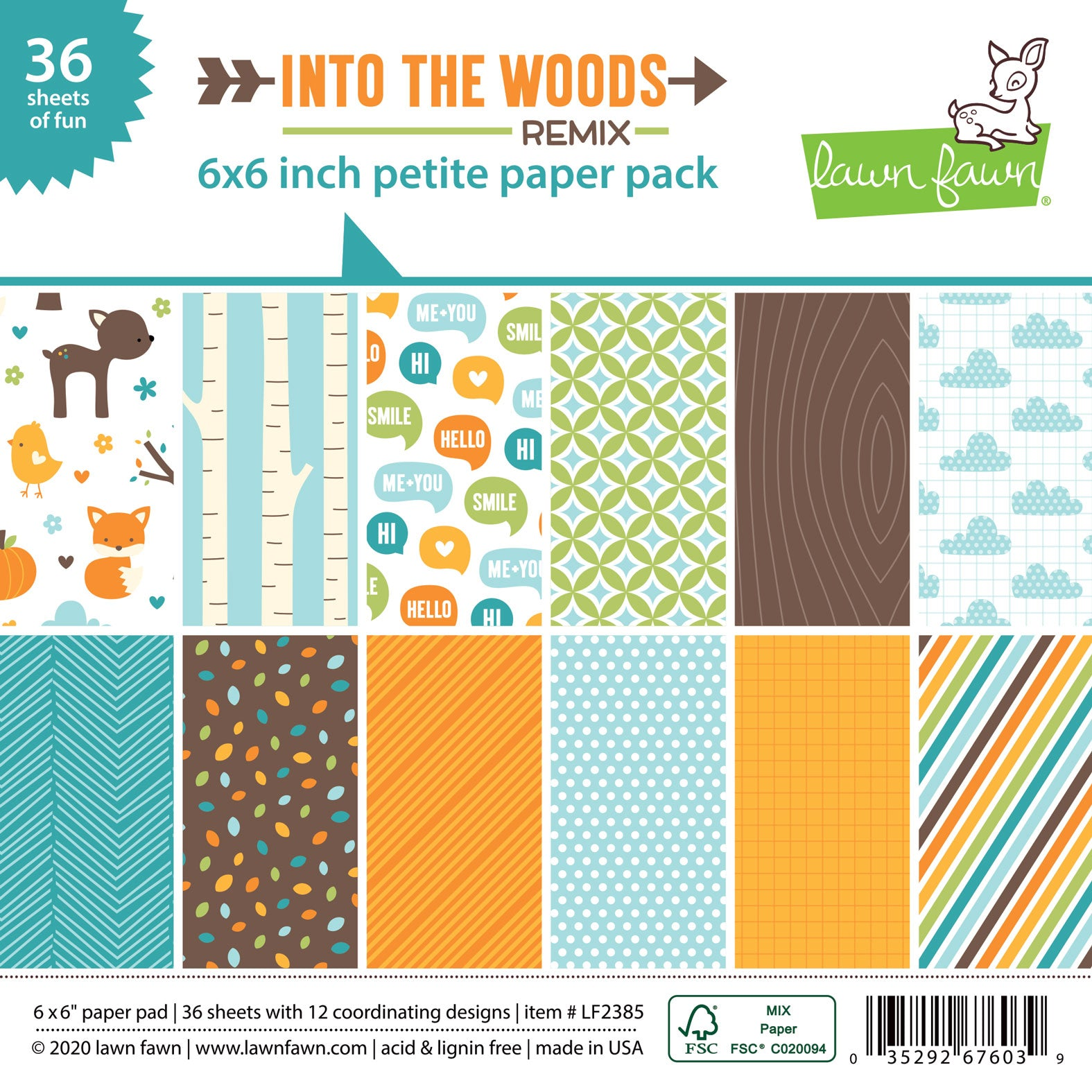 into the woods remix - petite paper pack