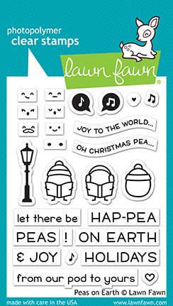 elena's peas on earth greeting card