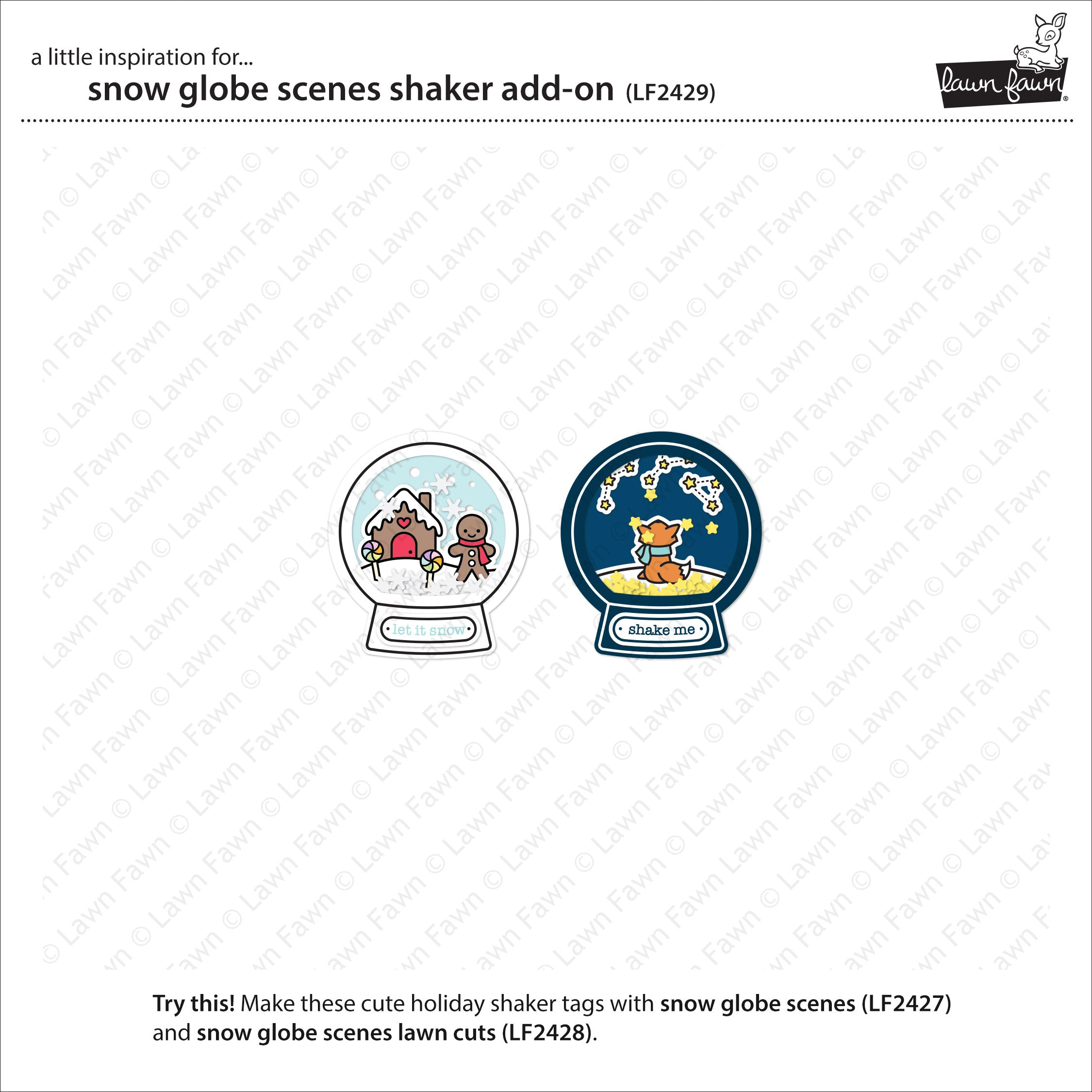 snow globe scenes shaker add-on