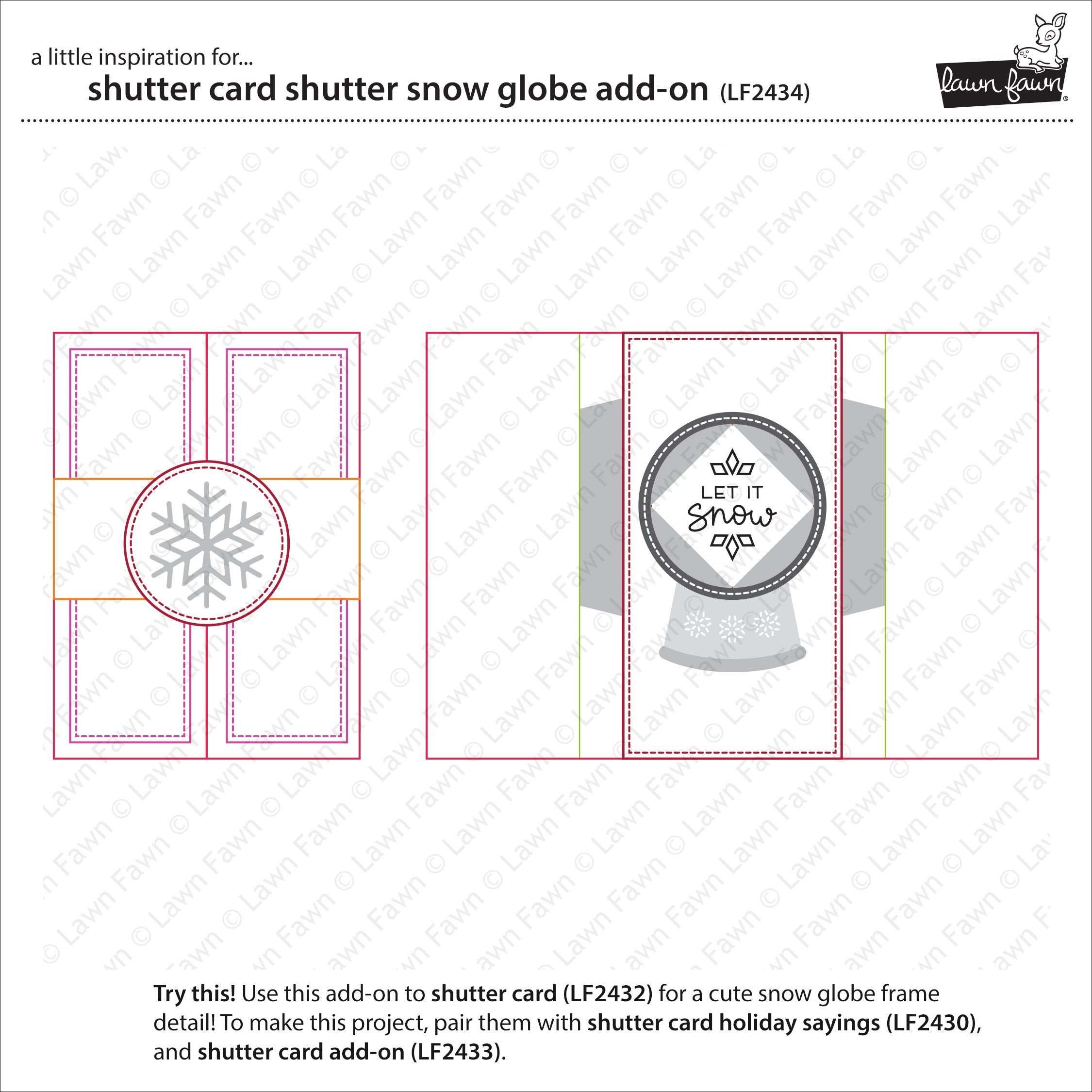shutter card snow globe add-on