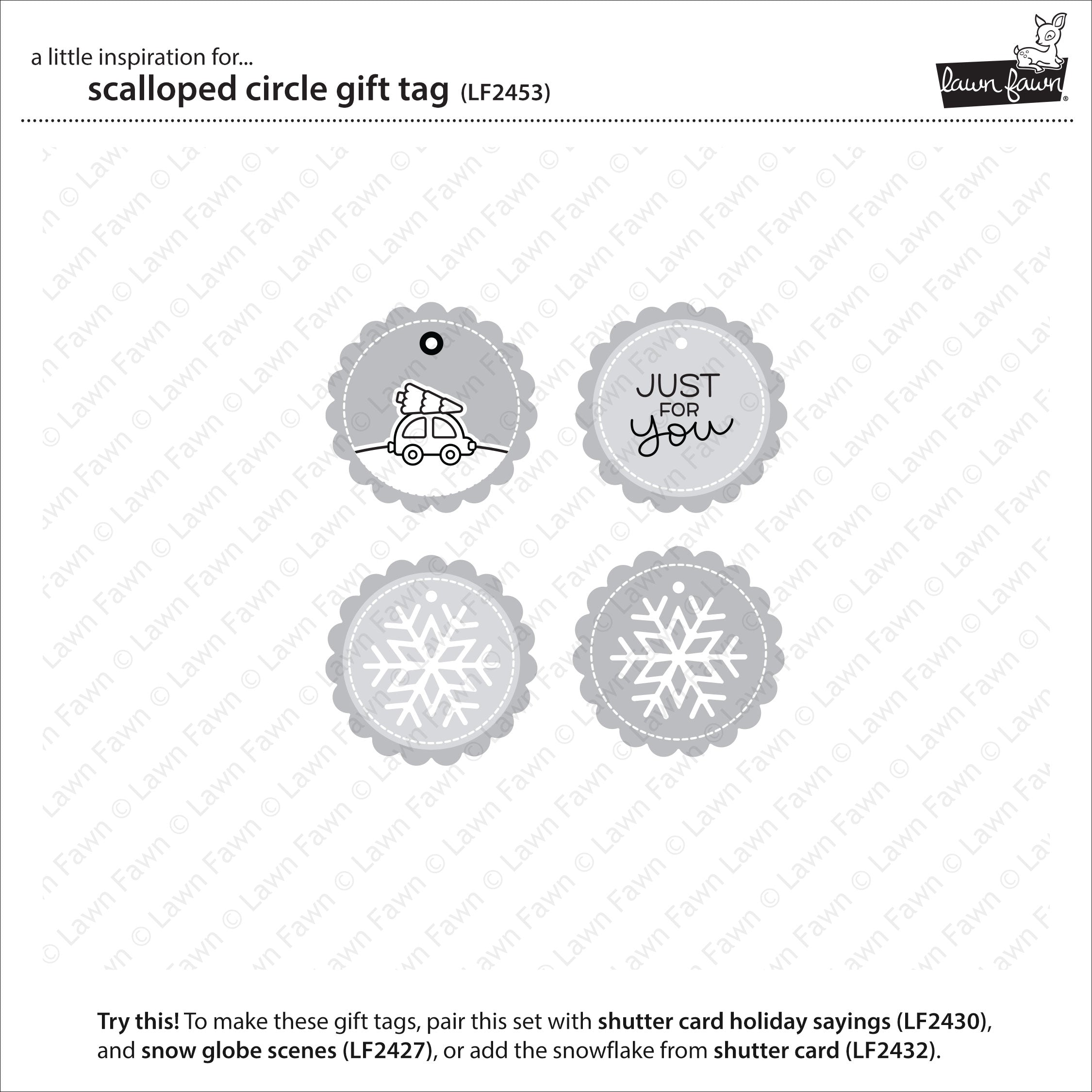 scalloped circle gift tag