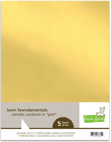 metallic cardstock - gold