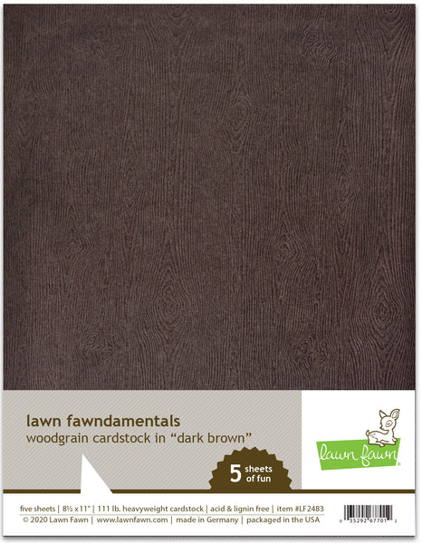woodgrain cardstock - dark brown