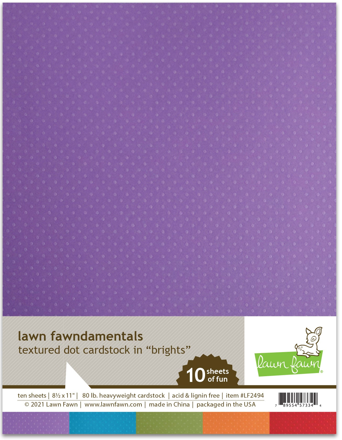 Texture Dot Cardstock- Brights