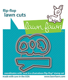 one in a chameleon flip-flop - lawn cuts
