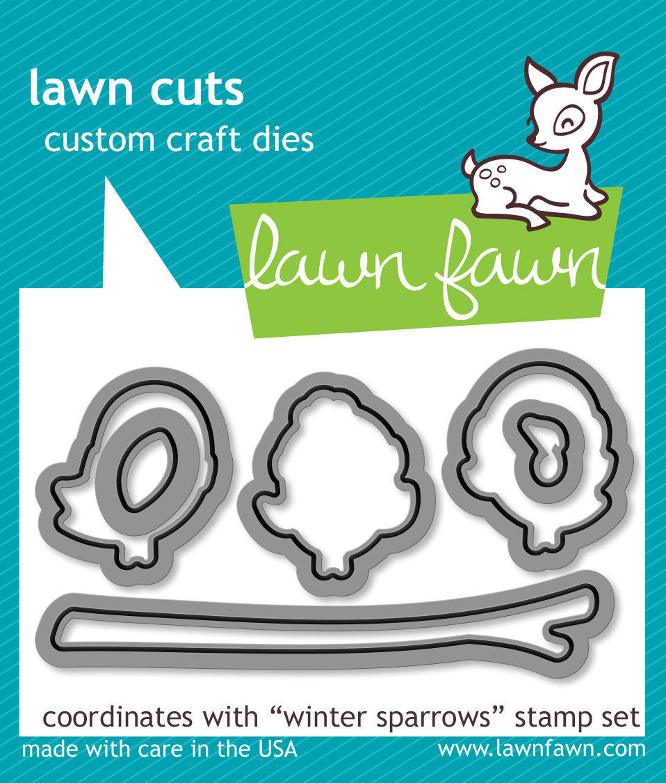 winter sparrows - lawn cuts