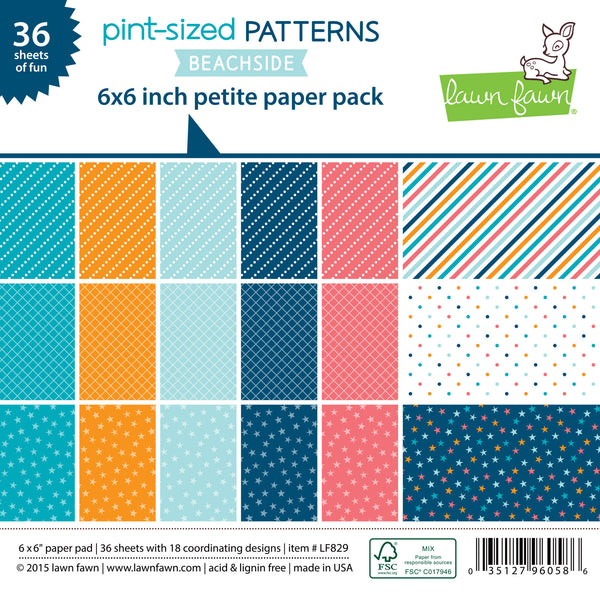 pint-sized patterns: beachside petite paper pack